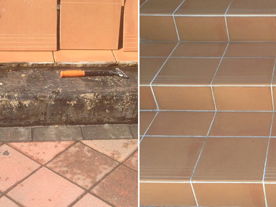 Terracotta Repaired, Cleaned, and Sealed